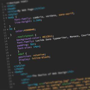 web code screenshot